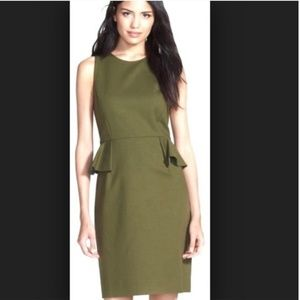 Kate spade green peplum dress 8 nwot